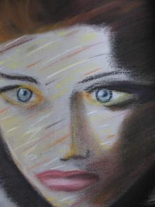 Kobieta (pastele). Listopad 2003r.