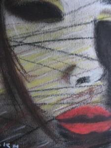 Twarz (pastele) 2003r.