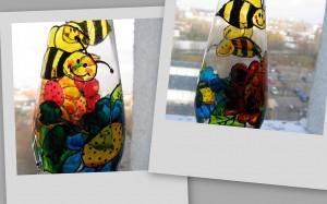Malowane na szkle,wazon