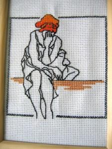 Kobieta w turbanie (haft krzyżykowy)