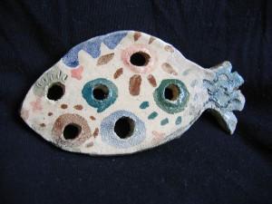 Ceramiczna rybka (może służyć jako mydelniczka)