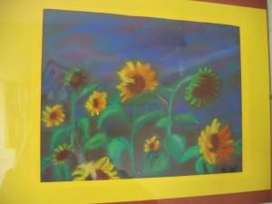 słoneczniki (pastele)