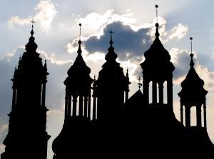 Wieżyczki katedry 01.05.2009r.