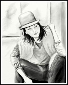 Kobieta w meloniku (maj 2009r.)