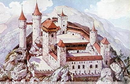 Dawny wygląd zamku Bolczów