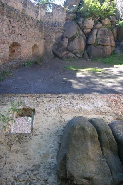 Zamek Bolczów,mury