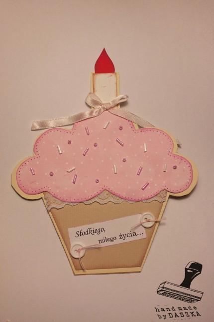 kartka urodzinowa-babeczka 2013r.