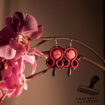 sutasz, kolczyki różowe 2013r.