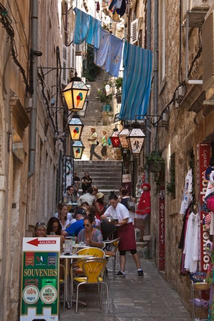 Dubrovnik, uliczka 2013r.