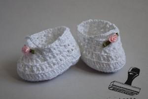 szydełkowe buciki dla niemowlaka 2014r.