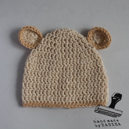 czapeczki miśki, szydełko 2015r.