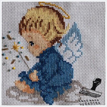 aniołek haft krzyżykowy, lipiec 2015r.